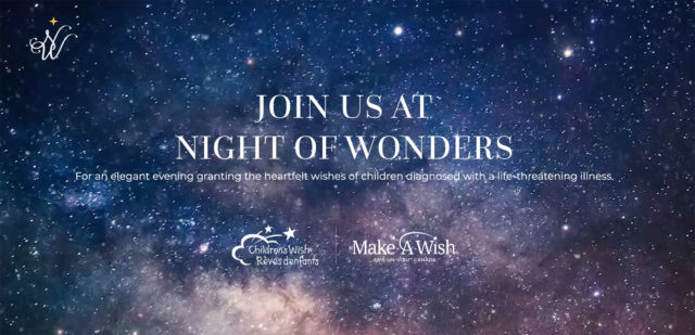 Registration page for an event with starry backdrop