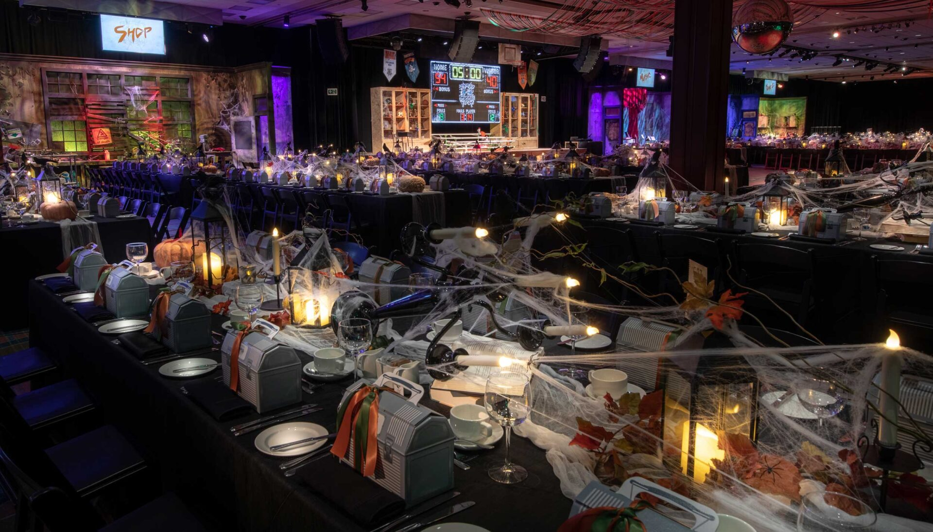 Table design for a vip event at a casino