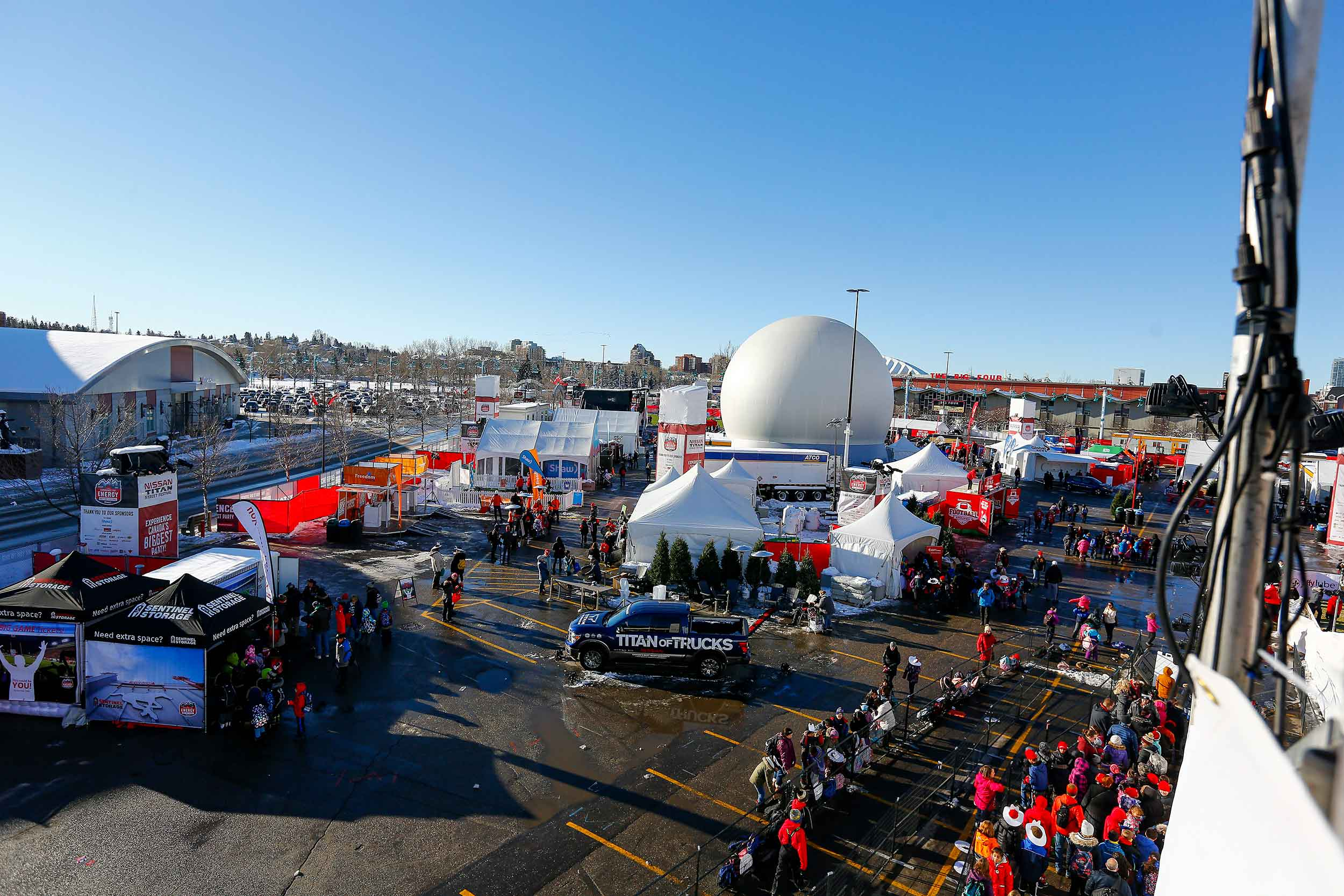 A wide shot of the event site that we managed as technical event producer for the 2019 Grey Cup Festival