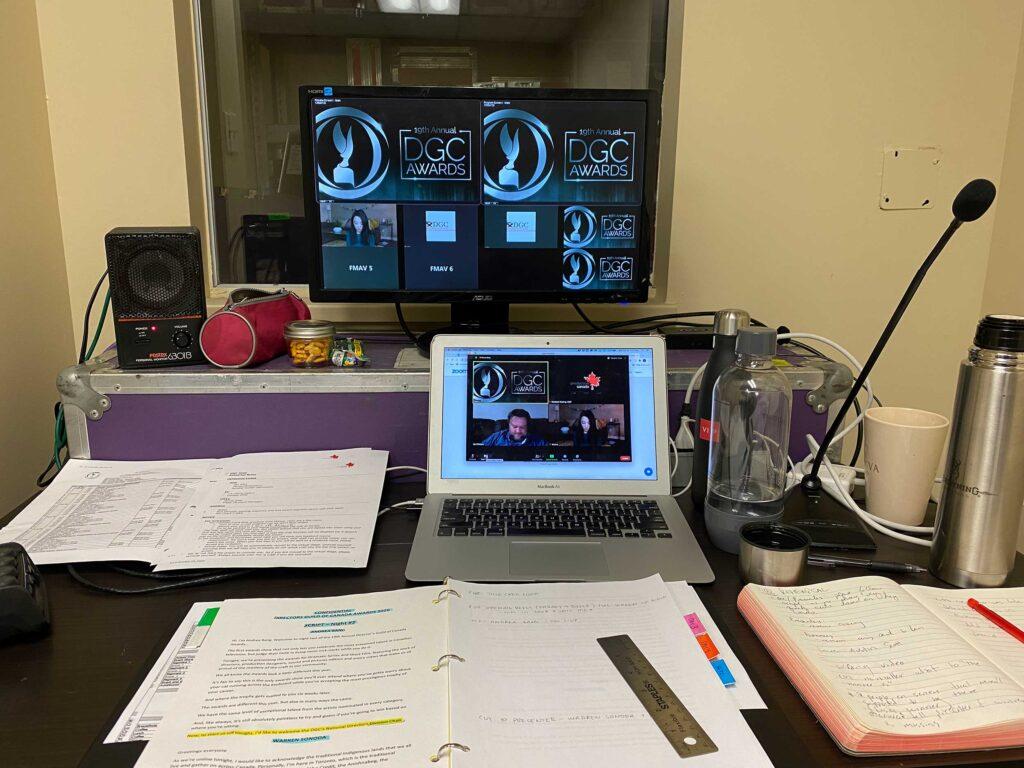 Show caller setup for a virtual event